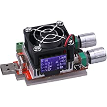 yeeco DC 3–21V 3A 35W Función de carga USB tester Last descarga giratorio constante Obstrucción con ventilador para comprobar Voltaje Corriente móvil cargador Tester entladen antiedad