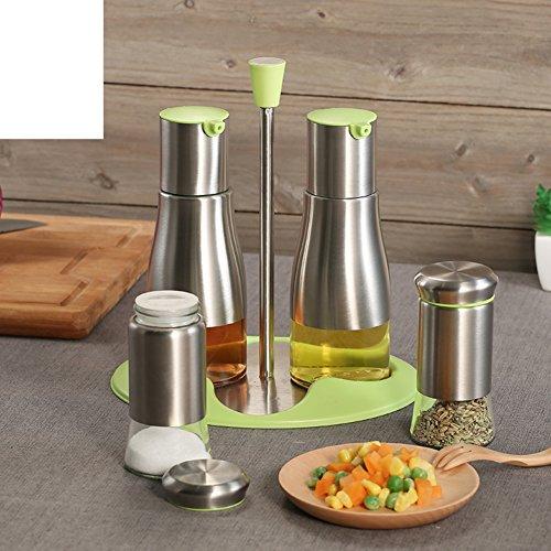 Edelstahl Glas Spice Jar Topf Sojasauce Ölflasche Kit Spice Vierstück Bausatz European-Style Küche