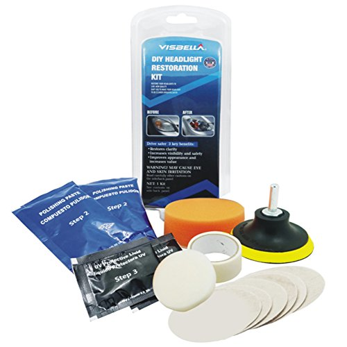 Zantec Car Accessories, Car Headlight Lens Restoration Kit System Professional Carpet Liner Protection Tool Kit