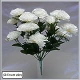 18 Kopf Weiße Nelke Kunstblume Strauß Hochzeit