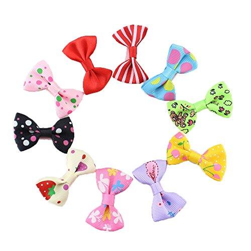 Fermaglio per capelli a forma di fiocco, clip per capelli per neonata, ragazza o bambina, 10 pezzi