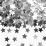 Silbernes Konfetti mit Sternen // 1 Tüte mit 15g // Deko Tischdeko Jubiläum Zahlenkonfetti Silber Silberhochzeit Sternenkonfetti