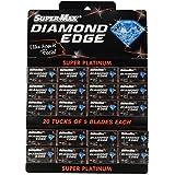 Supermax Diamond Double Edge Shaving Razor Blade (Pack Of 100 Blades) - Silver