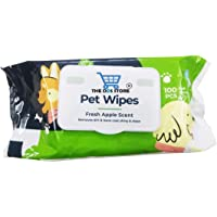 """The DDS Store Pet Wipes for Dogs, Puppies & Pets - Apple Scent 6""""x 8"""" - Pack of 100 Wipes"""