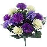 A1-Homes Fleurs Artificielles bouquet de chrysanthèmes 45cm Purple, Lavender & Cream
