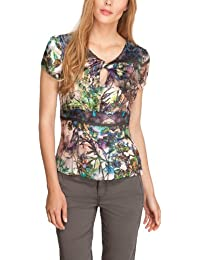 Comma Damen Bluse 81.307.12.2992 KURZARM All over Druck Regular Fit