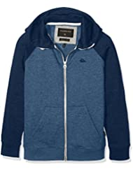 Quiksilver Everyday Zip Youth - Sudadera con capucha y cremallera para niño, color azul, talla S