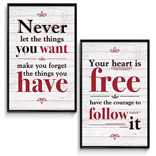 Throwback Traits Inspirational Wall Art Poster Tolle Motivation für Büro und Badezimmer Wanddekoration, inspirierende Zitate Poster, 28 x 43 cm, 2 Stück