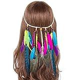 AWAYTR Bandeau Hippie perle maquillage bal de promo belles mascarade hippie bijoux de cheveux (Plusieurs couleurs)