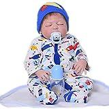 23 Zoll reborn Babypuppen schlafender Junge voller Silikon Vinyl Körper lebensechte Babys 57 cm Neugeborenen realistische Kleinkind Spielzeug Kinder Geburtstagsgeschenk