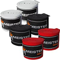 Adult 180 Hand Wraps for MMA & Boxing - 3 Pairs Pack by Meister MMA
