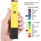 MCP Digital LCD Pocket Pen type pH Meter for water purity testing and Pool, Aquarium measurement