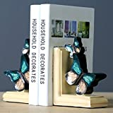#2: TIED RIBBONS Butterfly shaped Non Skid Bookends Books Magazine holder organizer for Home Office