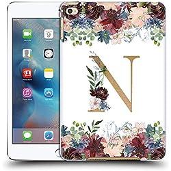 Head Case Designs Offizielle Nature Magick N Blumen Monogramm Blumig Gold 2 Ruckseite Hülle für iPad Mini 4