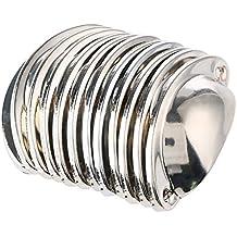 12pcs Vintage porta cassetto armadietto manopole ferro Shell Coppa Tazza semicerchio Maniglia Pull manopola 8,2cmx3.5cm argento