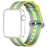 CICIYONER 1 PC Bunt Release Sport Royal Woven Nylon Armband Strap Band für Apple Watch 38mm, 6 Farben zu wählen (Gelb, Apple Watch 38mm)