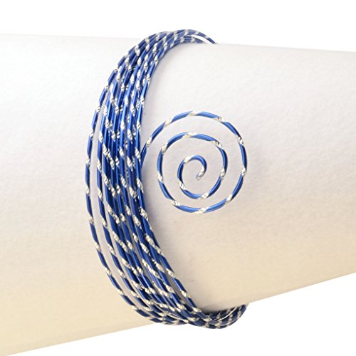 45-011 Aludraht Diamant Schmuck, Aluminium, royal blau, 500 x 0.2 x 0.2 cm (Royal Blau Tischdekoration)