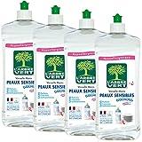 L'Arbre Vert Liquide Vaisselle Peaux Sensibles Biberons 750 ml - Lot de 4...