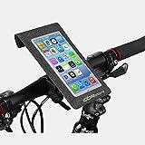 Mzj Volle Wasserdichte Fahrradtasche Handy-Tasche Touch-Bildschirm Lenkertasche Reiten Front Tasche Hängende Tasche Mountainbike-Accessoires,Gray