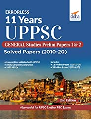 Errorless 11 Years UPPSC General Studies Prelim Papers 1 & 2 Solved Papers (2010 - 20) 2nd Edi