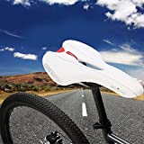 Naisicatar Sports Bike MTB Saddle Racing Bicycle Hollow Saddle Seat - 1021 White
