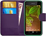G-Shield Hülle für Nokia Lumia 530 Klapphülle mit Kartenfach - Lila