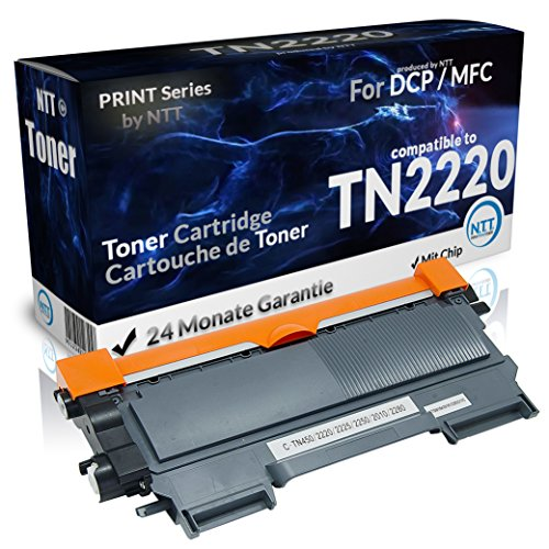 NTT Toner Hohe Kapazität kompatibel zu TN2220 TN-2220 TN 2220 XXL TN-2010 TN2010 TN 2010 für Brother DCP-7055 DCP-7055W DCP-7057 DCP-7060 D DCP-7060N DCP-7065 DN DCP-7070 DW Fax-2950 HL-2130 HL-2130R