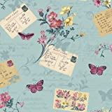 Arthouse Sophie Conran Reflections Luxury Wallpaper Wallpaper Postcards Home Blue Haze 950902
