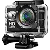 Teconica KL-5000 Sport Action Camera 2 Inch LCD Screen 16 MP Full HD 1080P With 170˚ Ultra Wide-Angle Lens, Including Full Accessories {Colour May Vary}