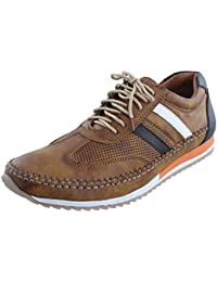 Marshal Men's Multi Color Stylish Lace Up Big Size Corporate Casual Shoes