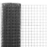 mewmewcat Grillage Métal Acier et revêtement en PVC 25 x 1,5 m pour Jardin de...
