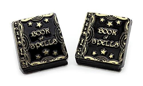 Treat Hexen Buch der Zaubersprüche Ohrstecker mit GRATIS Geschenk-Box (Scary Halloween-outfits Uk)
