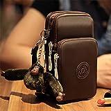 Zantec Handgelenk tasche, Frauen Mode Lässig Drei-Schicht Reißverschluss Tasche Wasserdichte Geldbörse Umhängetasche
