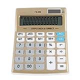 ASHATA Taschenrechner, 12-Bit Standard Tischrechner LCD-Display Bürorechner Rechenmaschine,Dual-Power Sonnenenergie und Batterie Betrieb Calculator Taschenrechner