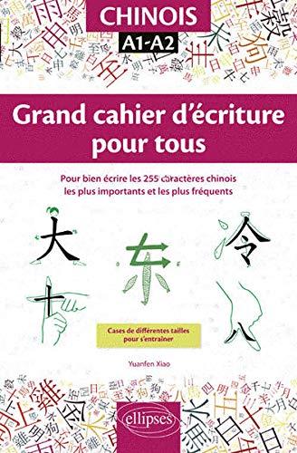 Chinois. Grand cahier d'écriture pour tous. Pour bien d'occasion  Livré partout en Belgique