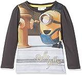 les minions Mädchen T-Shirt Minion Bello Yellow, Grau (Grey 19-3908TC), 5-6 (Herstellergröße: 6 Jahre)