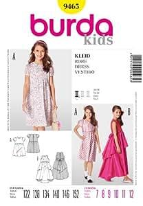 Burda Children's Easy Patron de couture de robes/9465: 7–12 ans
