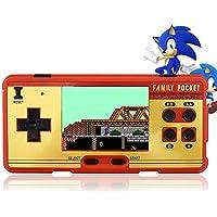 VOROSY 2.7inch LCD Wiederaufladbare Spielkonsole Retro Megadrive 16 Bit 160+ Spiele