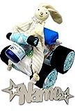 Babygeschenke personalisiert Windeltorte mit Namen + Creme + Feuchttücher Set I Nachtlicht für Mädchen Junge I Lillydoo Windel