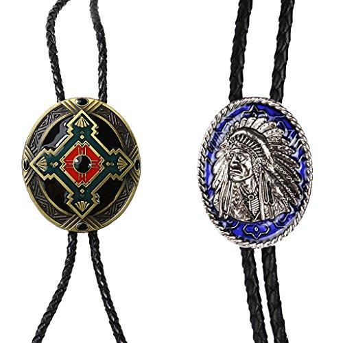 MagiDeal Jefe de Indio Lazo + Tribu Tótem Lazo Collar Corbata Bolo