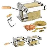 Harivar Mart Stainless Steel 3 in 1 Pasta Maker Noodles Cutter Roller Machine