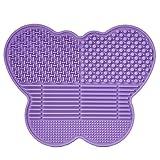 # 1 Miglior tappetino per la pulizia dei tuoi pennelli in silicone a forma di Farfalla - allunga la vita dei tuoi pennelli per il make up e l'arte! (Viola)