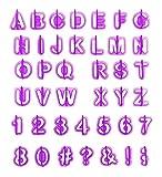 ilauke Alphabet Nombre Découpoirs Emporte-pièces Pastiques pour Décoration de Biscuit Gâteau Cookie Pâtisserie (40pcs)