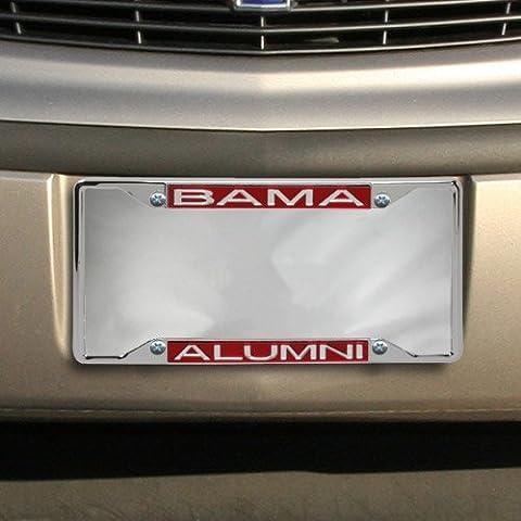 NCAA Alabama Crimson Tide Alumni Acrylic Insert Chrome License Plate Frame by Football Fanatics