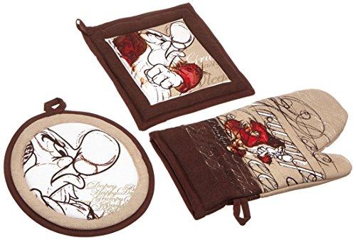 Disney tws63/09br 7 nani set guanto con 2 presine termiche, disegno brontolo