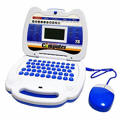Kinderspielzeug Kinder Spielzeug Lernspielezeug Laptop PC mit Maus Lerncomputer Computer Englisch Logik Mathe Puzzle Musik Spiele Batteriebetrieben NEU
