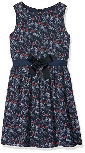 s.Oliver Mädchen Kleid 73.711.82.2796, Blau (Darkblue Multicol.Stripes 58S6), 164