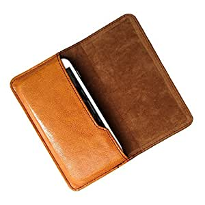 i-KitPit : PU Leather Flip Pouch Case For Sony Xperia M2 Dual (BROWN)