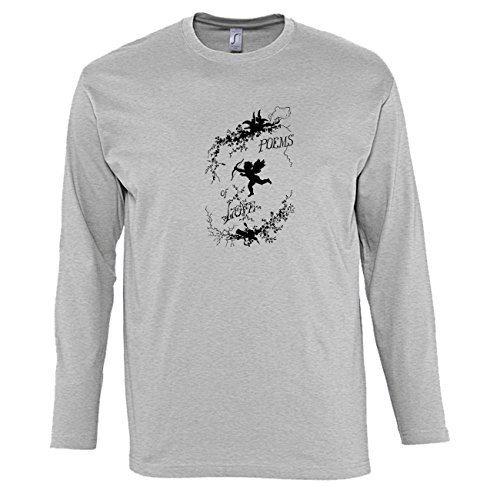 Manica lunga t-shirt da uomo con Cupid with Poems Of