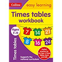 Times Tables Workbook Ages 7-11: New Edition: easy times tables practice book for years 3 to 6 (Collins Easy Learning KS2)